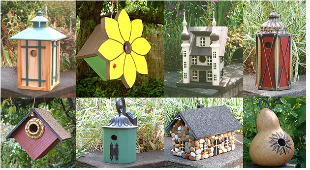 samples of birdhouses